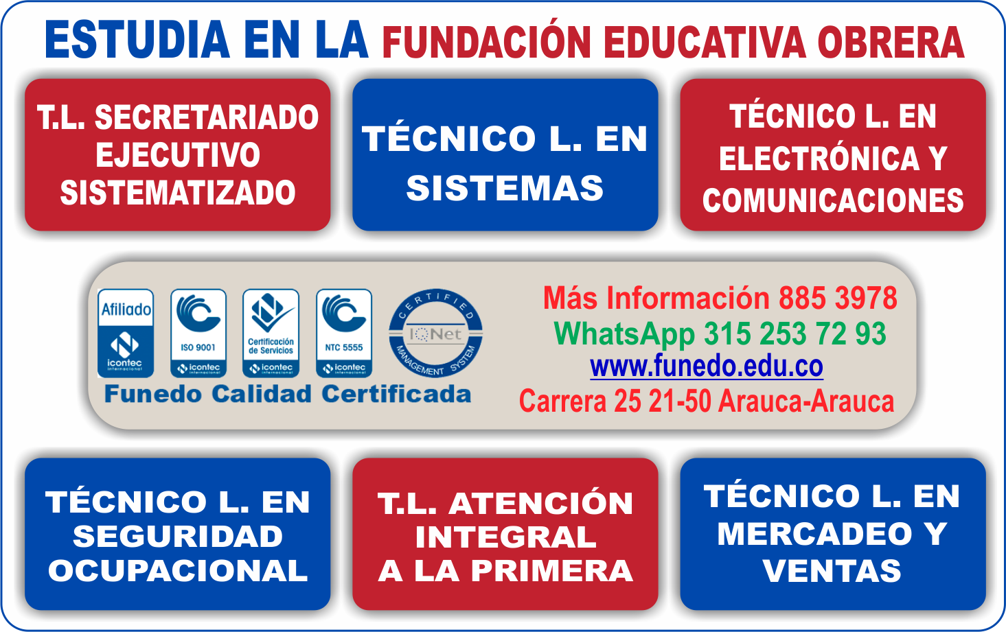 Oferat educativa Funedo 2018