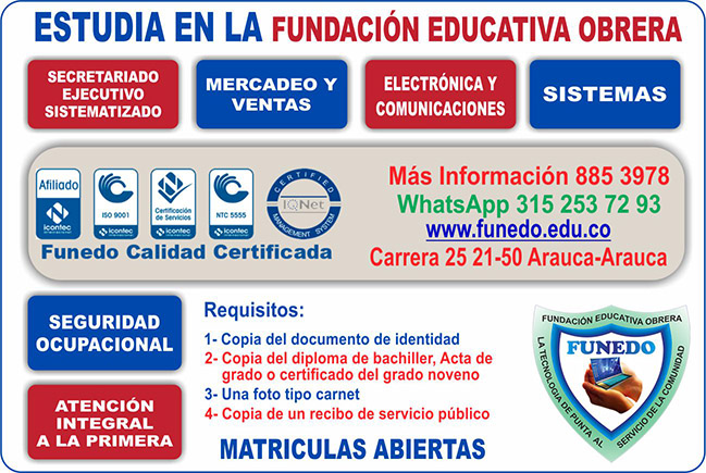 Oferta educativa Funedo 2018-2