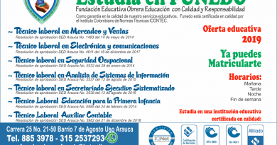 Oferta educativa Funedo 2019