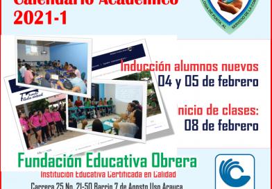 Inicio de clases periodo académico 2021-1