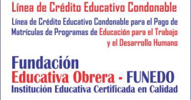 Línea de Crédito Educativo Condonable para el Pago de Matrículas